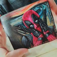 Handmade Marvel - Deadpool Art Custom Wallet
