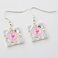 Jinx Portal 2 - Companion Cube Earrings