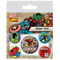 Pyramid International Marvel Retro - Iron Man Badge Pack