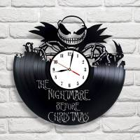 Handmade The Nightmare Before Christmas Vinyl Clock Wall
