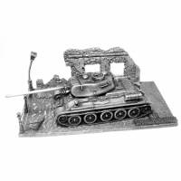 Official World of Tanks T34-85 (with stand) Figure