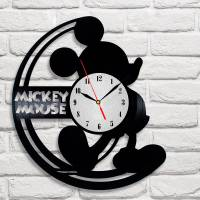 Handmade Mickey Mouse Vinyl Clock Wall