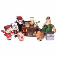 Gravity Falls - Set of DIY Paper Craft Kits