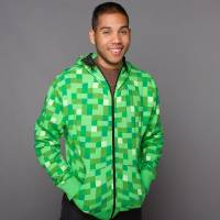 Jinx Minecraft Creeper Premium Zip-Up Hoodie