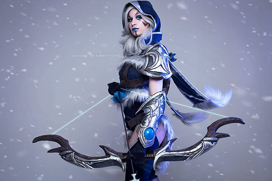 Russian Cosplay: Drow Ranger (Dota 2) by Kristy CHE