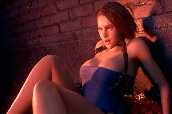 [Fun Video] Jill Valentine in Sexy Original Outfit (Resident Evil 3 Remake)