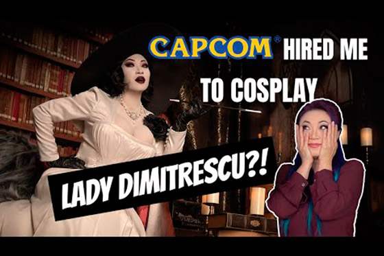 [Fun Video] Cosplaying Lady Dimitrescu from Resident Evil Village for Capcom!