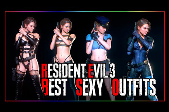 [Fun Video] Resident Evil 3 Remake 8 Sexy Jill Outfits (NSFW)